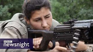 The women fighters taking revenge against IS  - Newsnight