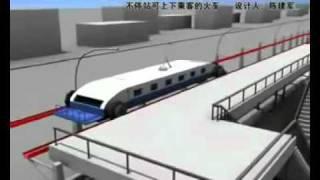 إعجاز صيني، اركب وانزل من القطار وهو منطلق بأقصى سرعته   YouTube