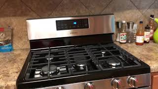 Samsung 2019 5.8 Cu ft gas range overview and thoughts NX58R4311SS