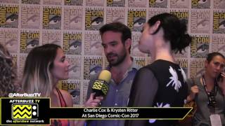 Charlie Cox & Krysten Ritter  (The Defenders) at San Diego Comic-Con 2017