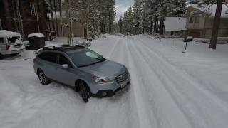 Lake Tahoe first snow storm 2017