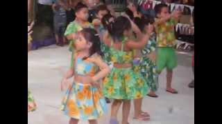 hawaiian dance by NASAH kinder student's