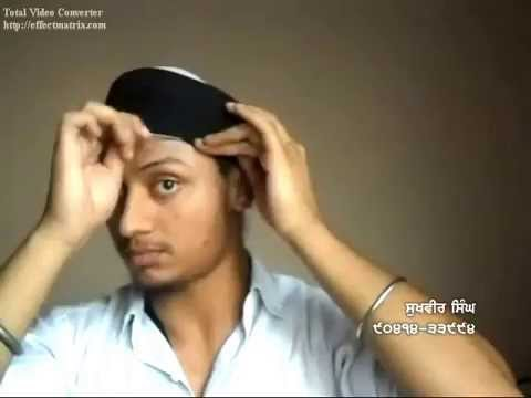 How to arrange hair(kes) for Tying Turban- HD 2012 Sukhvir Singh