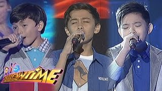 Luke, Francis and Benedict perform on It's Showtime
