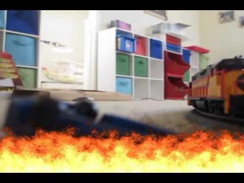 model train crash