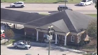 Car crashes into Bank of America in Greenville Co.