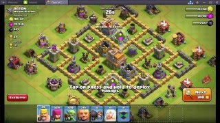 Clash of Clans (COC) - Best Giants & Archer attack strategy and Technic (Must be Watch)