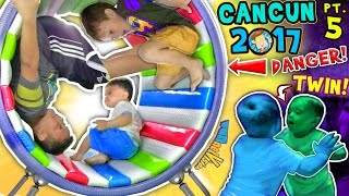 WHEELS ON THE BUS, OUCH! 🌎 WORLD'S COOLEST INDOOR PLAYGROUND (FUNnel Vision Cancun Mexico Pt 5 vlog)