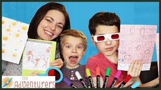 THREE Marker HiDDEN Puzzle Challenge / That YouTub3 Family   The Adventurers