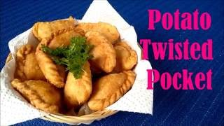 How To Make POTATO TWISTED POCKET Fried Food Recipe Video #89