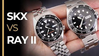 Seiko SKX013 vs Orient Ray II - The ULTIMATE Battle of Affordable Dive Watches!