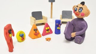 Baby Learning Geometry Shapes Educational Play Doh Baby Animation for Toddlers