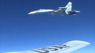 Russian Sukhoi Su-27 Intercepted a U.S. EP-3 Aries Over Black Sea || Jan. 29, 2018