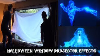 Halloween Decorating Ideas 2017 | AtmosFX Tricks & Tips #7 -  Window Projections