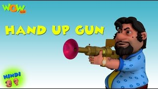 Hands Up Gun - Motu Patlu in Hindi - ENGLISH,FRENCH & SPANISH SUBTITLES! - 3D Animation Cartoon
