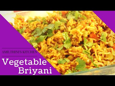 Yummy Vegetable briyani in Tamil - Amy's kitchen - Happy foodie recipes - Uma Santhosh