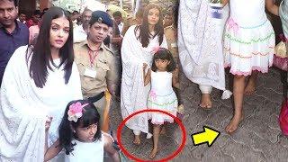 Aishwarya Rai & Aaradhya Walk Bare Feet On Mumbai Roads To Siddhivinayak Temple