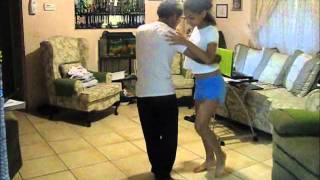 Brother and Sister dancing bachata