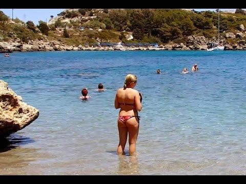 Ladiko Beach Rhodes Greece June 2016
