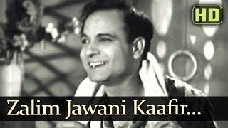 Zalim Jawani Kaafir Adaye (HD) - Taqdeer Songs - Motilal - Nargis Dutt