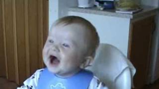 Baby laughing out loud ^^