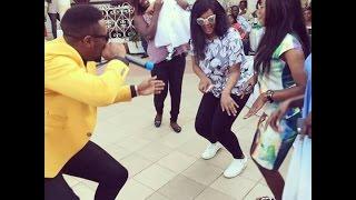 Cameroonian Princess Brenda Biya dancing to Numerica performance