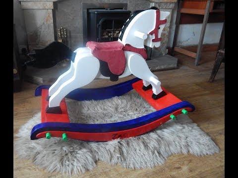 DIY wooden rocking horse