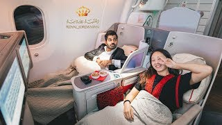 الدرجة الذهبية التاج على طيران الملكية الأردنية !! 22,000$