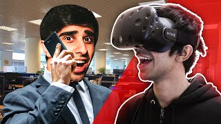 IM AN OFFICE WORKER! - VIRTUAL REALITY on HTC VIVE - (Job Simulator)