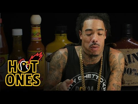 Gunplay Talks Rick Ross Wingstop and X Box Live Fights While Eating Spicy Wings Hot Ones
