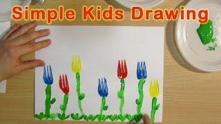 FLOWERS: ORIGINAL PRESCHOOL ACTIVITIES - KIDS SIMPLE DRAWING for children, kids, babies