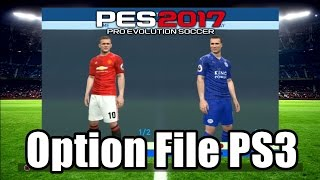 PES 2017 OPTION FILE PS3 BLUS and BLES