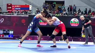 Qual. WW - 68 kg: E. JEONG (KOR) v. W. CHEN (TPE)