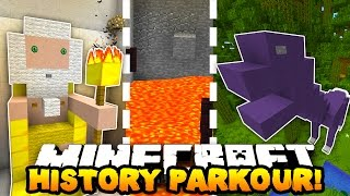 Minecraft PARKOUR THROUGH HISTORY! (Hour Long Map!) w/PrestonPlayz, Woofless & CampingRusher