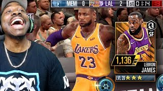 MAXED OUT LEBRON JAMES POSTER DUNKING! NBA 2K Mobile Gameplay Ep. 12