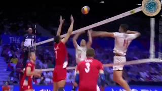 Excellent set to middle from Toniutti | France vs Serbia VNL 2018 | Volleyball |