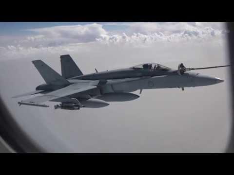 RAAF - F/A-18A Hornets Arrive For Operation Orka