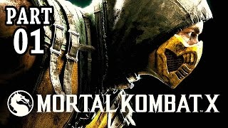 Let's Play Mortal Kombat X Gameplay German PS4 Deutsch Part 1 - Johnny Cage vs Scorpion (Story Mode)
