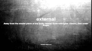 What does external mean