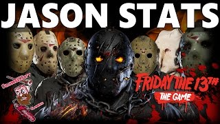 Friday the 13th The Game   All 7 playable Jason's Stats  