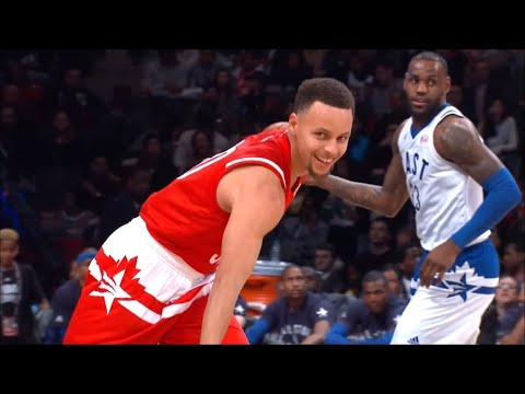 Warriors 2016 All Star Game Highlights Stephen Curry Klay Thompson & Draymond Green
