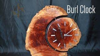 Burl Clock