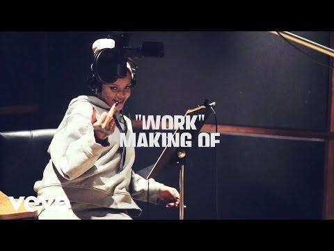 Rihanna Work In Studio Behind The Scenes ft. Drake