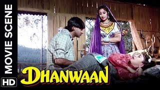 Ajay plays a prank on Karisma | Dhanwaan | Movie Scene