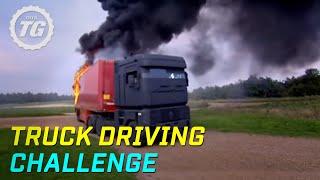 Truck Driving Challenge Part 1: Rig Stig & Power Slide - Top Gear - BBC