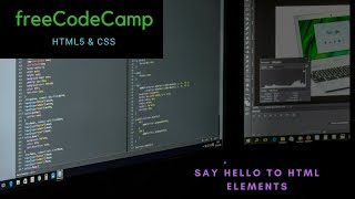 Say hello to html elements, freeCodeCamp review html & css