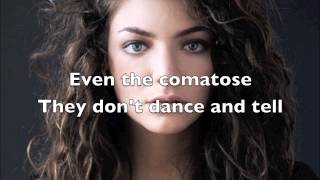 Lorde - Team (Lyric Video)