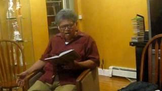 Sunil Ganguly recites Keu Kotha rakheni upon request at Sumita Basu's home in boston