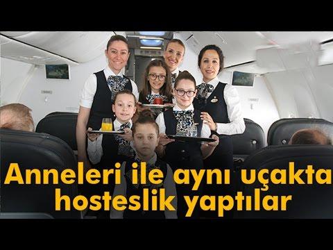 THY Uçağı'nın Hostesleri Çocuklar Oldu
