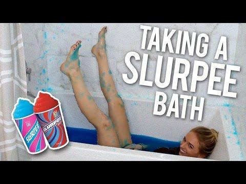TAKING A SLURPEE BATH
